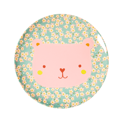 Rice DK | Animal Kids Lunch Plate Bear Print