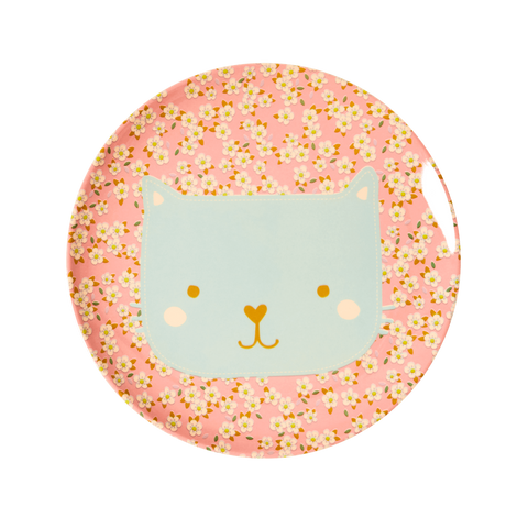Rice DK | Animal Kids Lunch Plate Cat Print