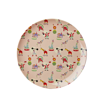 Rice DK | Kids Melamine Lunch Plate with Girl Circus Print