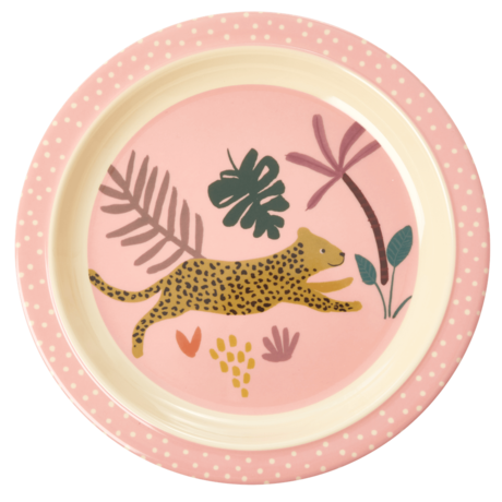Rice Dk Melamine Kid Jungle Animal Lunch Plate