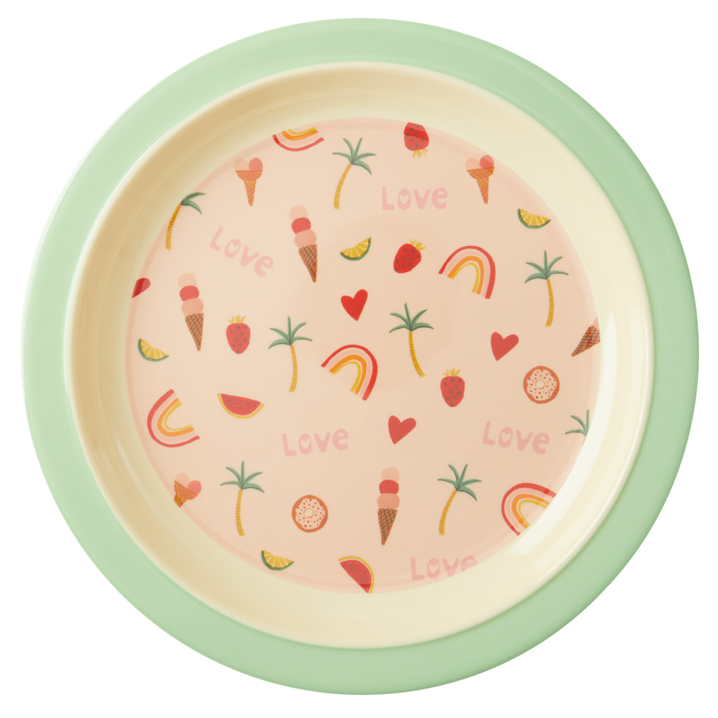 Rice Dk Melamine You Go Girl Lunch Plate