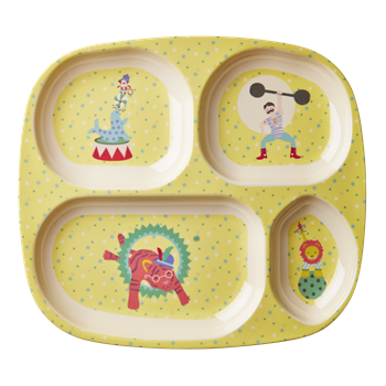 Rice DK | Kids 4 Room Melamine Plate with Boy Circus Print