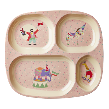 Rice DK | Kids 4 Room Melamine Plate with Girl Circus Print