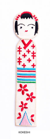 Toconuts | Embroidery Kokeshi Bookmark Collection