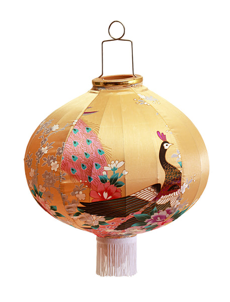 Kitsch Kitchen | Gold Peacock Lantern