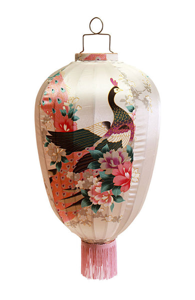 Kitsch Kitchen | Cream Peacock Lantern