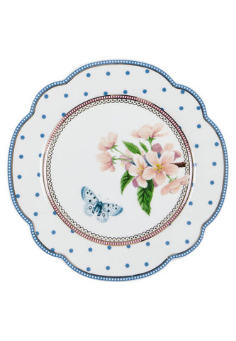 Lisbeth Dahl | Flowers and Butterfly Side Plate