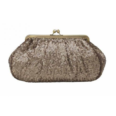 Lisbeth Dahl Bronze Sequins Toilet Bag