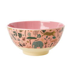 Rice Dk Melamine Jungle Medium Coral Animal Bowl