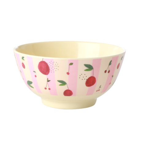 Rice DK Cherry Print Two Tone Melamine Bowl