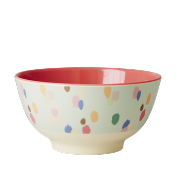 Rice DK | Two-Tone Melamine Bowl Dapper Dot Print