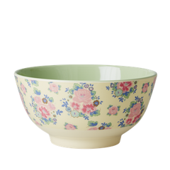 Rice DK | Two-Tone Melamine Bowl Dutch Roses Print