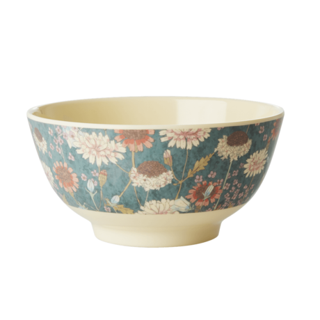 Rice DK Fall Flower Print Two Tone Bowl