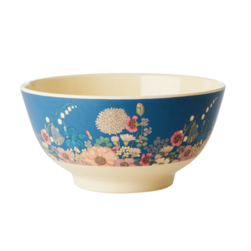 Rice DK Fall Flower Collage Print Medium Bowl