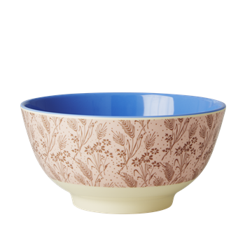Rice DK | Two-Tone Melamine Bowl Flower Field Print