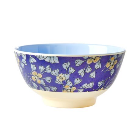 Rice DK Two-Tone Melamine Bowl Hanging Flower print