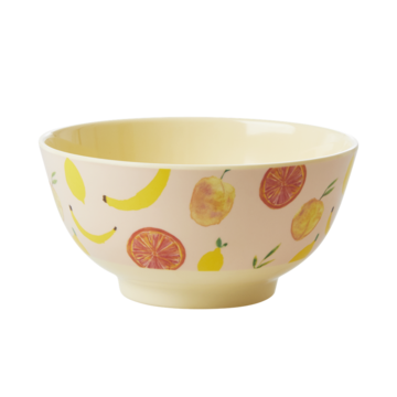 Rice DK Two-Tone Melamine bowl Happy Fruits print
