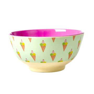 Rice DK Icecream Print Two Tone Melamine Bowl