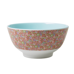 Rice DK Little Red Vintage Flowers Melamine Bowl