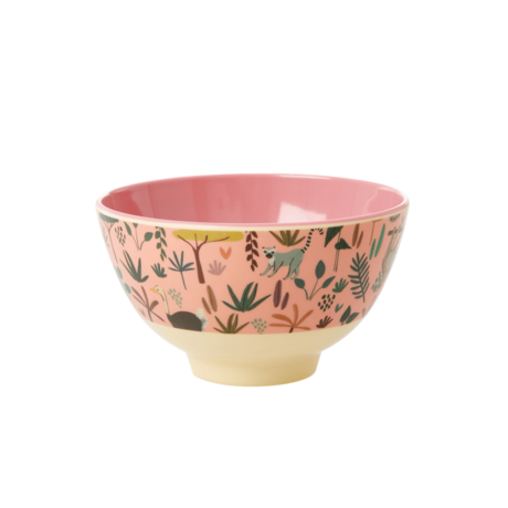 Rice Dk Melamine Jungle Small Coral Animal Bowl