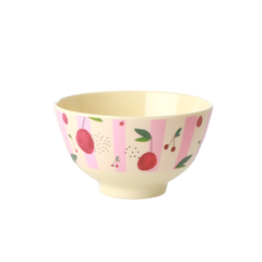 Rice DK Cherry Print Two Tone Small Bowl