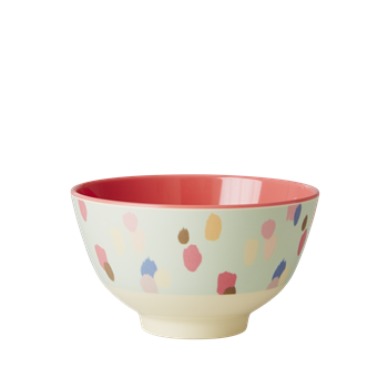 Rice DK | Two-Tone Small Melamine Bowl Dapper Dot Print