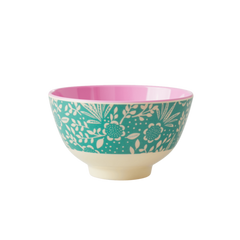 Rice DK Fern and Flower Two Tone Small Bowl