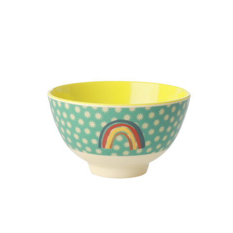Rice DK Rainbow + Stars Small Print Two Tone Melamine Bowl