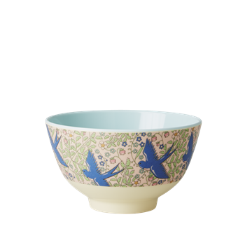 Rice DK | Two-Tone Small Melamine Bowl Swallow Print