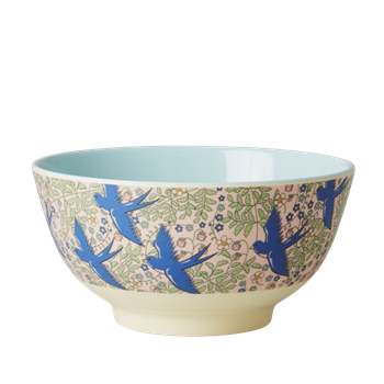 Rice DK | Two-Tone Melamine Bowl Swallow Print