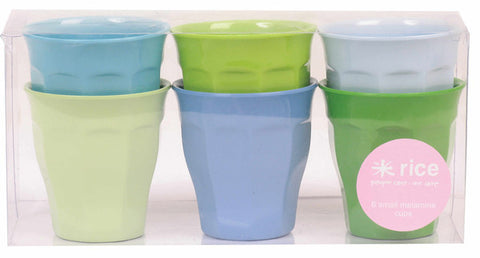 Rice DK Set of 6 Small Curve Boys Melamine Cups
