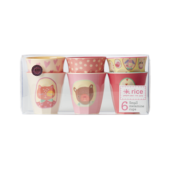Rice Dk | Set of 6 Small Happy Camper Girls Melamine Cups