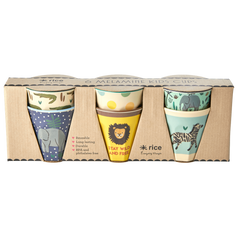 Rice DK Set of 6 Small 'Jungle' Melamine Cups