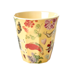 Rice DK MELAMINE CUP WITH CREME ART PRINT - MEDIUM