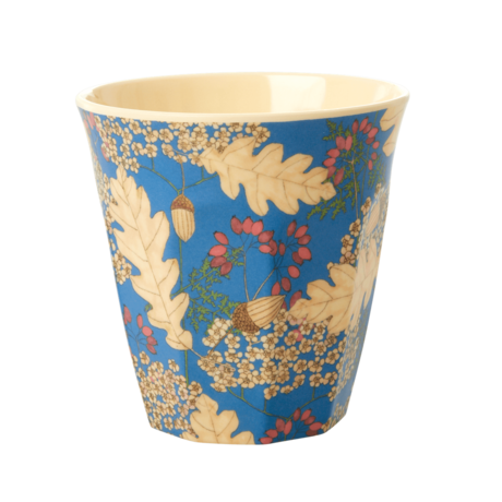 Rice DK MELAMINE CUP WITH Autumn and Acorns PRINT - MEDIUM