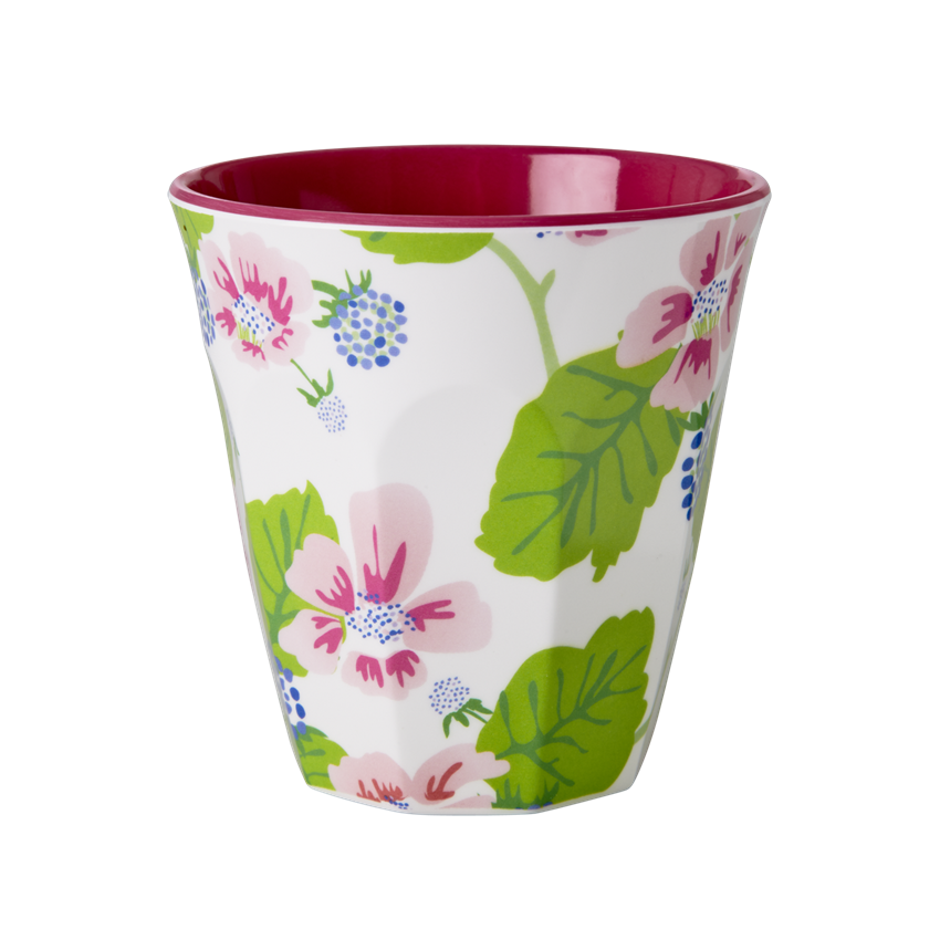 Rice DK Melamine Flower & BlueBerry Cup