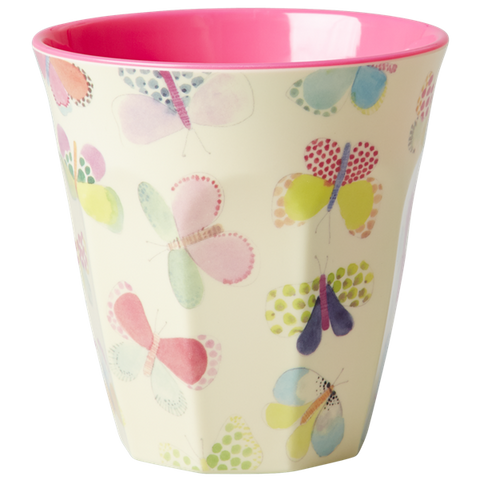 Rice DK Butterfly Print Two Tone Melamine Cup
