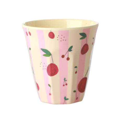 Rice DK Cherry Print Two Tone Melamine Cup