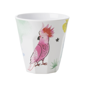 Rice DK Cockatoo Print Two Tone Melamine Cup