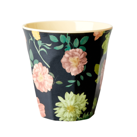 Rice DK Dark Rose Print Two Tone Melamine Cup