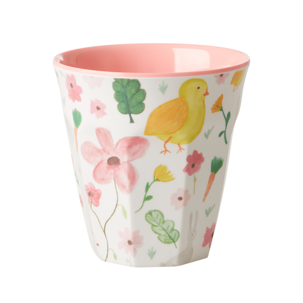 Rice DK White Easter Two Tone Medium Melamine Cup