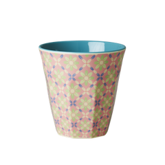 Rice DK | Two Tone Melamine Cup Flower Tile Print