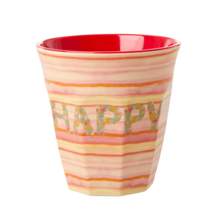 Rice DK MELAMINE CUP WITH Happy PRINT - MEDIUM