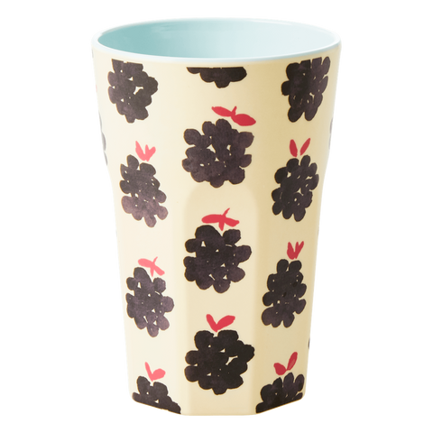 Rice DK Melamine Tall Blackberry Print Cup