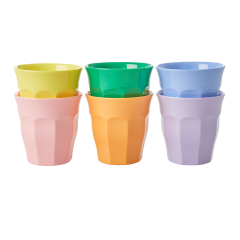 Rice DK Assorted `Let`s Summer Colors`` Melamine Cups