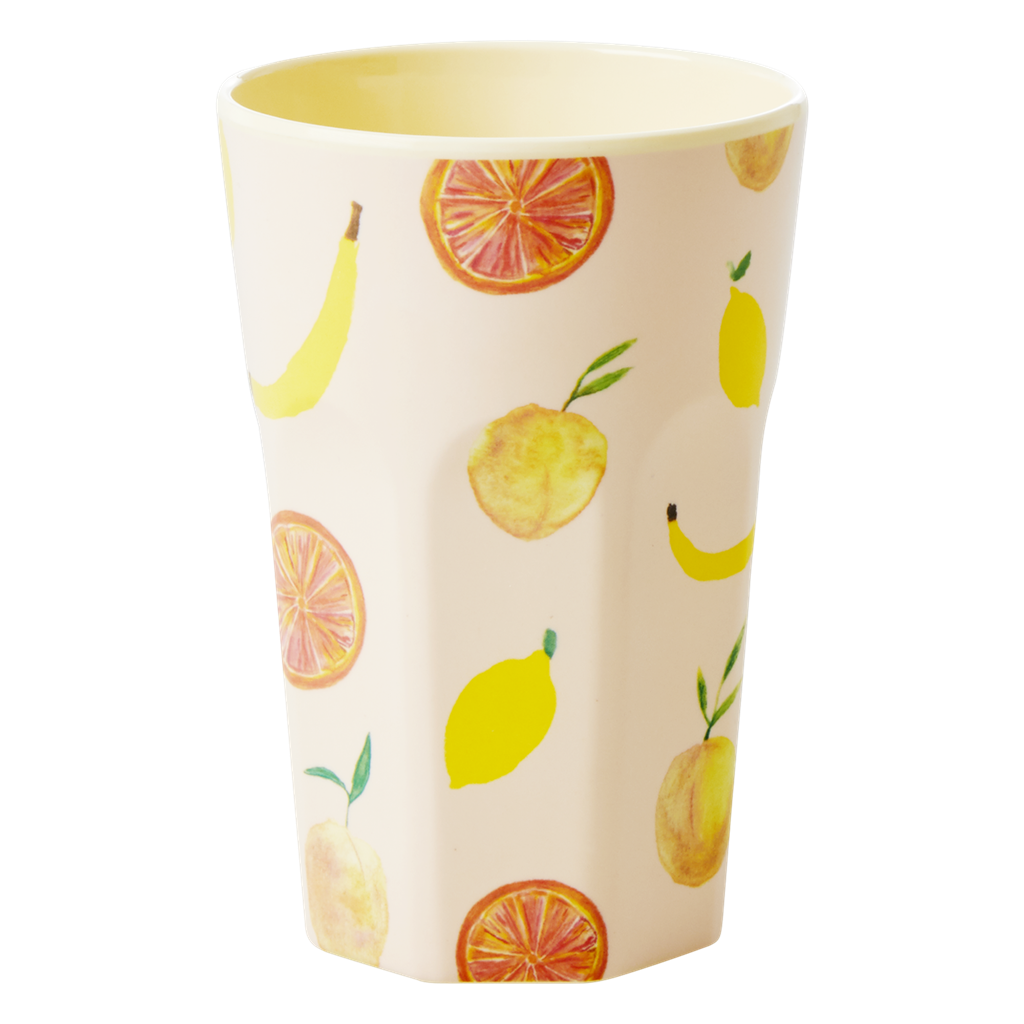 Rice DK Melamine Tall Happy Fruits Print Cup