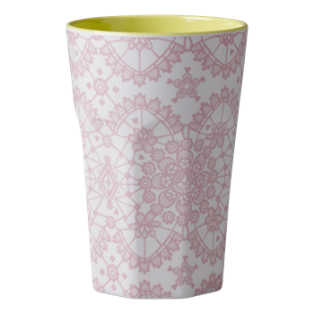 Rice Dk | Melamine Two Tone Lace Print Latte Cup