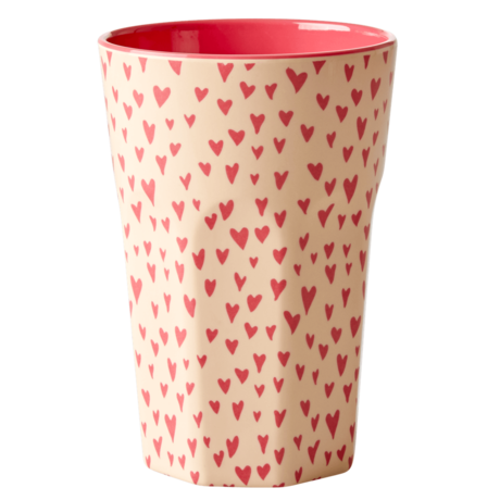 Rice DK Melamine Latte Cup Small Hearts