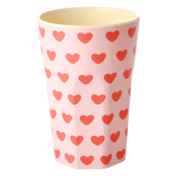 Rice DK Melamine Tall Cup Sweet Hearts
