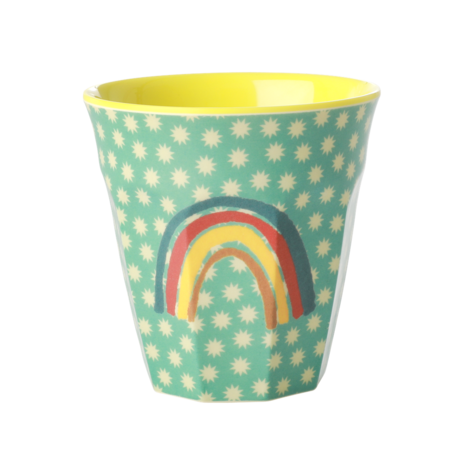 Rice DK Rainbow and Stars Print Melamine Cup